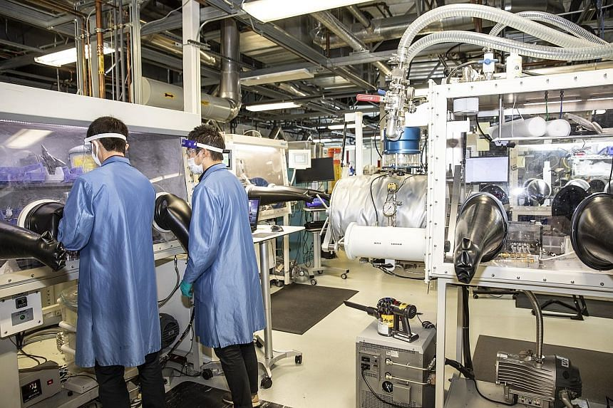 The laboratory at QuantumScape, a Silicon Valley start-up whose investors include carmaker Volkswagen and Mr Bill Gates. The company is working on a technology that could make car batteries cheaper, more reliable and quicker to recharge. Stock market