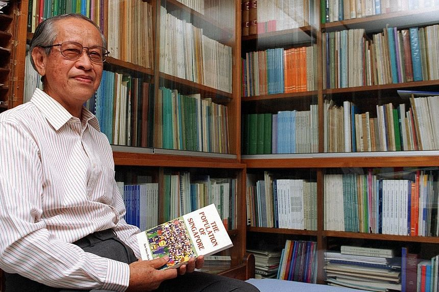 In the course of Professor Saw Swee Hock's distinguished academic career, he took up visiting positions in prestigious universities such as Princeton, Stanford, Cambridge and the London School of Economics. He died on Tuesday at the age of 89. ST FIL