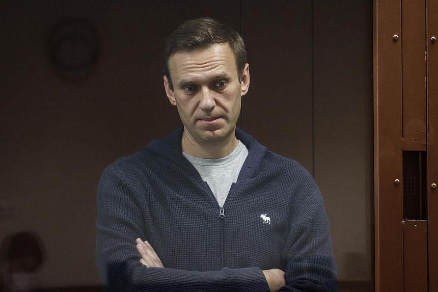 Moscow has denied blame for  Alexei Navalny's illness.