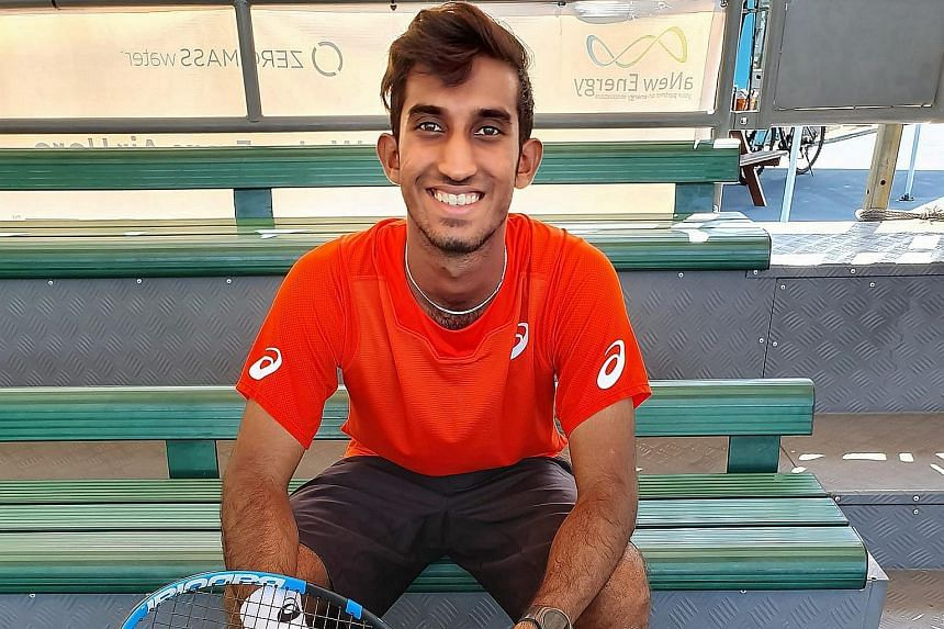 Shaheed, who is serving his national service and trains about four hours a day, usually plays on the ITF World Tour, two tiers below the main ATP Tour.