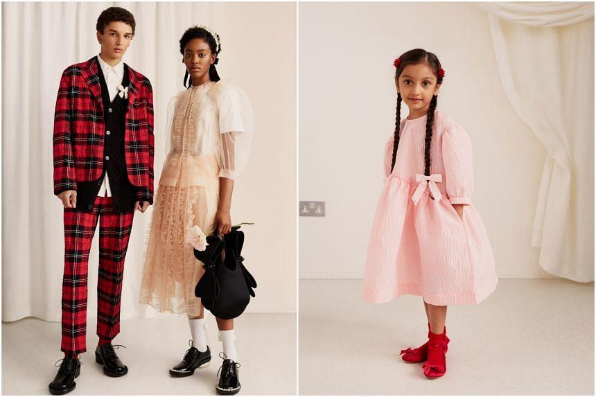 The children's clothing comprises miniaturised versions of Simone Rocha classics.