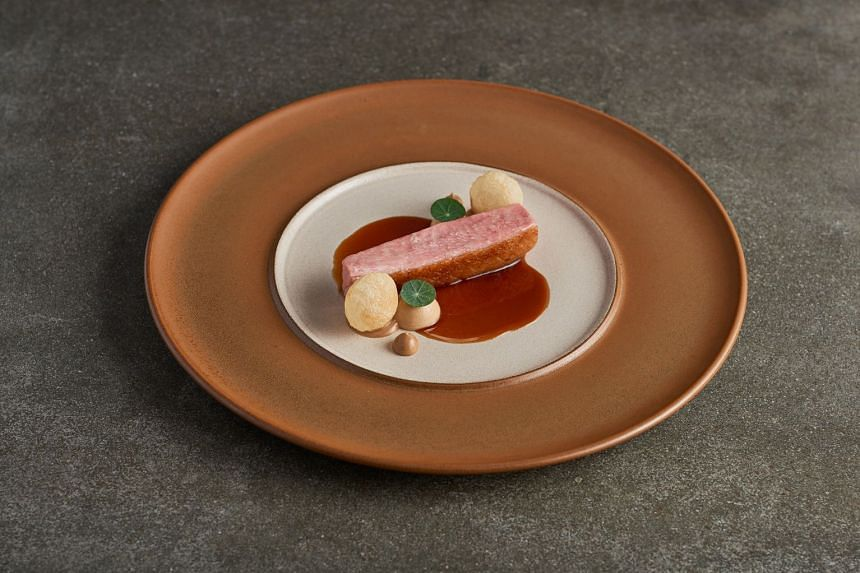 Dry-aged Irish duck with liver parfait from Sommer.
