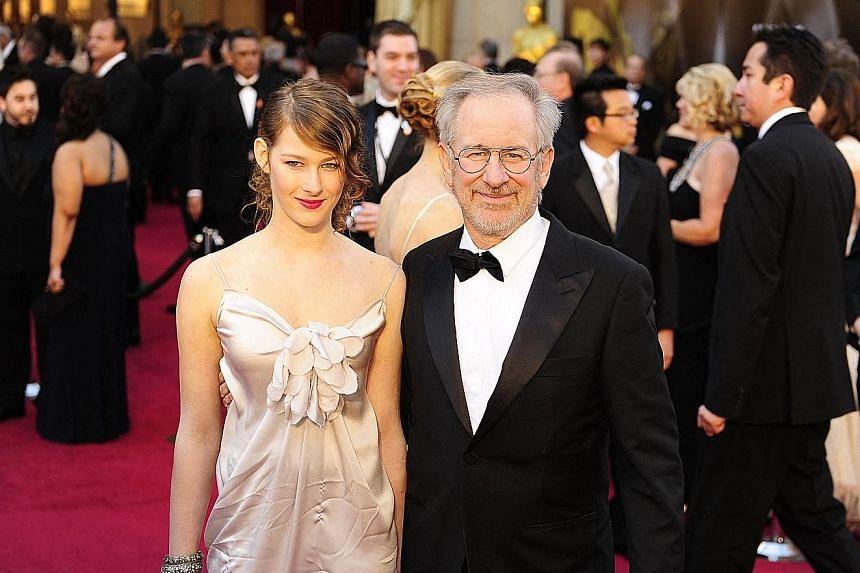 Sasha Spielberg with her father, legendary American film director Steven Spielberg.