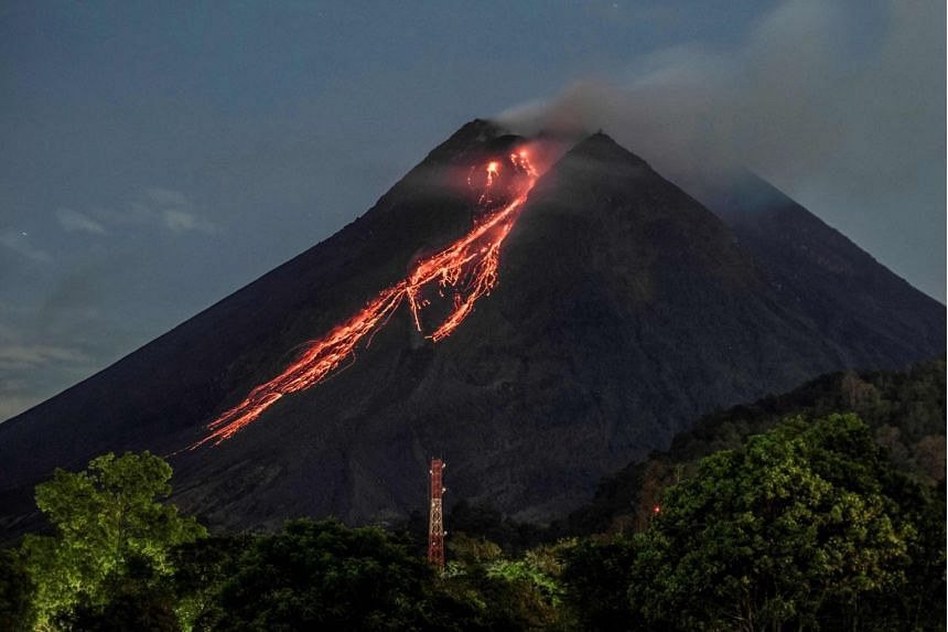 The volcano had already spewed lava almost two dozen times over the two last days.
