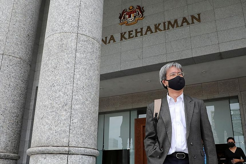 Malaysiakini's editor-in-chief Steven Gan leaving the Federal Court in Putrajaya yesterday. Although named as a defendant as well, he was not found guilty of contempt.