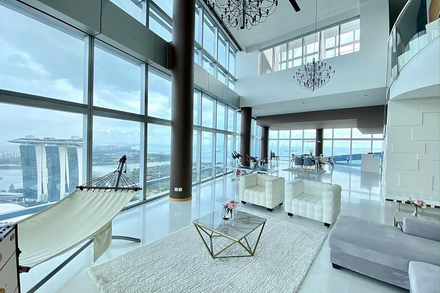 A collection of five penthouses were put up for sale recently at Marina Bay Residences.