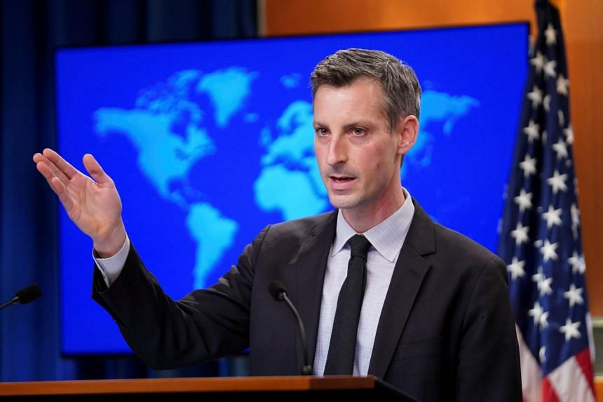 US State Department spokesman Ned Price said that President Joe Biden's administration was reaffirming a statement on the South China Sea issued in last July.