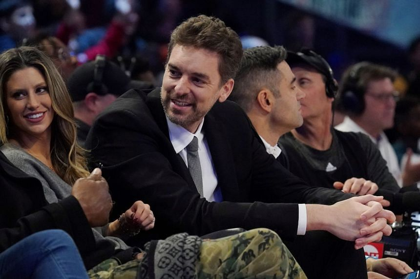 A February 2020 photo shows Pau Gasol at the NBA Rising Stars basketball game.