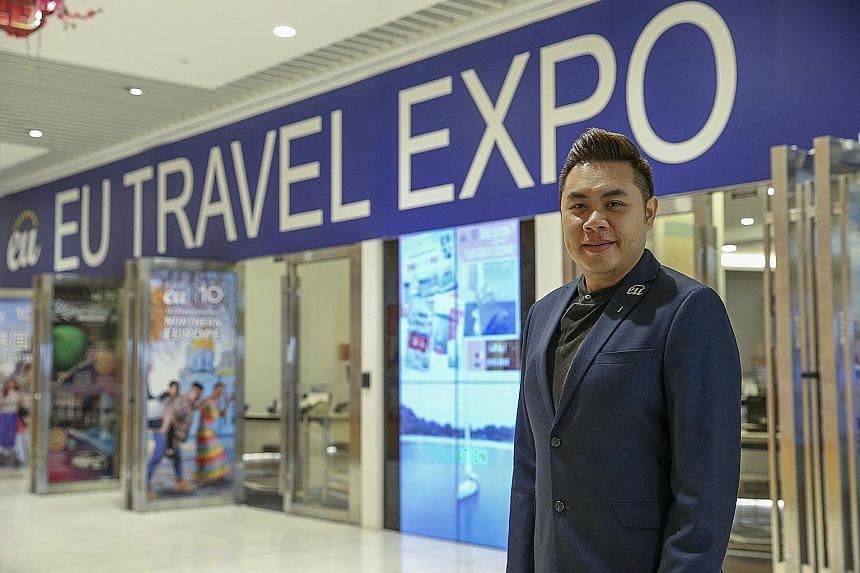 Mr Ong Hanjie, managing director of EU Asia Holidays, says that even with the Jobs Support Scheme, the tour agency's current revenue cannot support staff wages. ST PHOTO: YONG LI XUAN