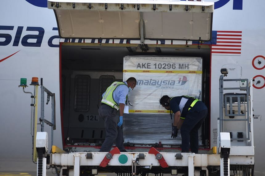 The Malaysia Airlines Flight MH604 landed at about 10.10am on Sunday.