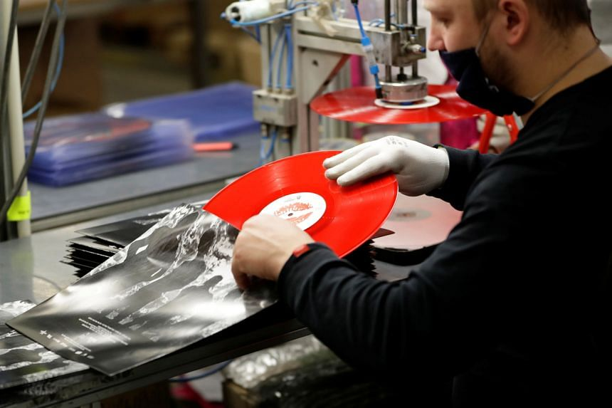 At the GZ Media vinyl record factory in Lodenice, Czech Republic, on Feb 16, 2021.