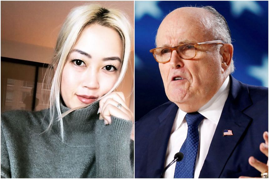 New York City mayor Rudy Giuliani spoke about paparazzi taking photos of Michelle Wie West (left) when her underwear was briefly visible as she stood over a putt.