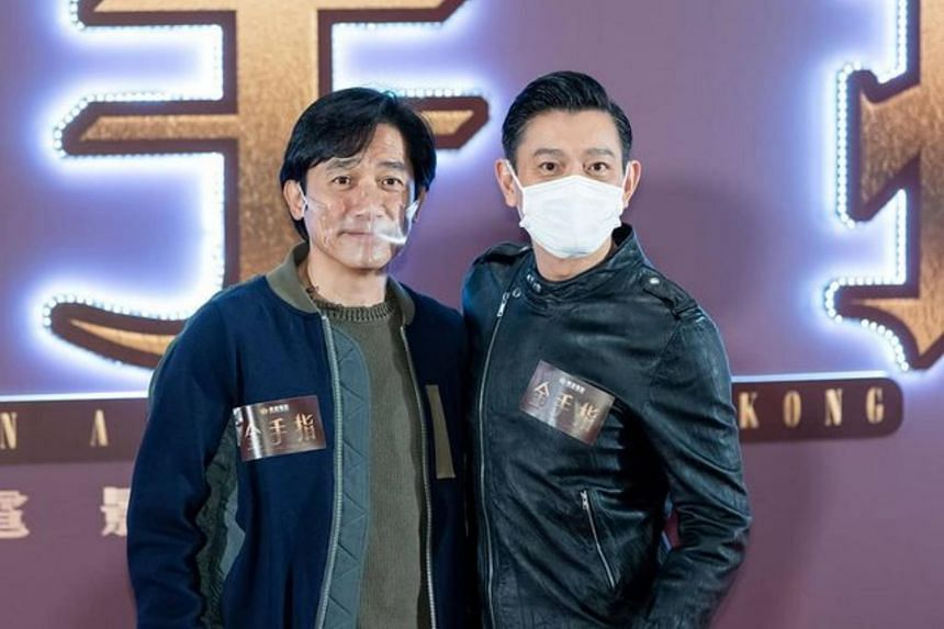 Tony Leung said he looked forward to filming the new movie with Andy Lau (right).