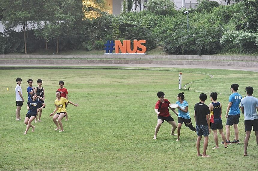 Students at the National University of Singapore playing frisbee on the lawn. In choosing a university, it is vital that prospective students research the institution's ethos and student life as well as course content. The NUS School of Computing has
