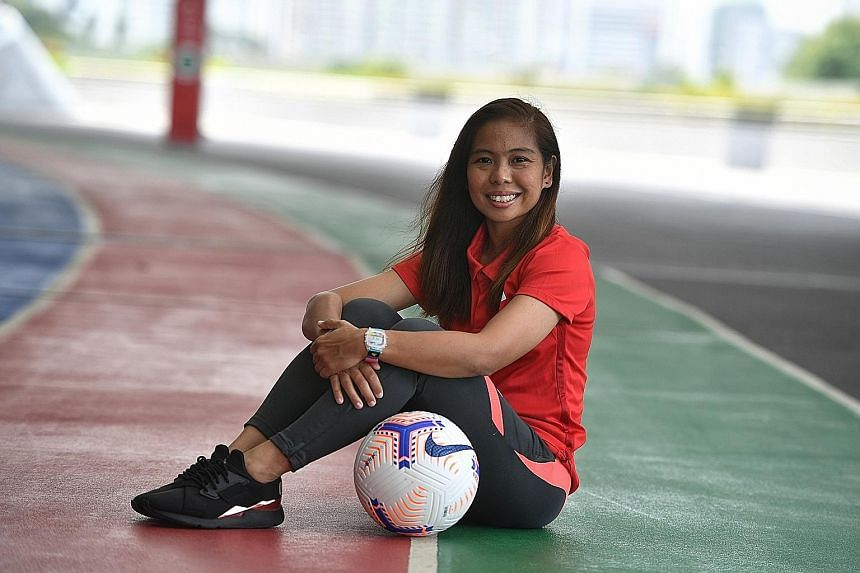 Footballer Ernie Sontaril, who also coaches, says Singa Champs provides a good environment for autistic children to nurture skills.