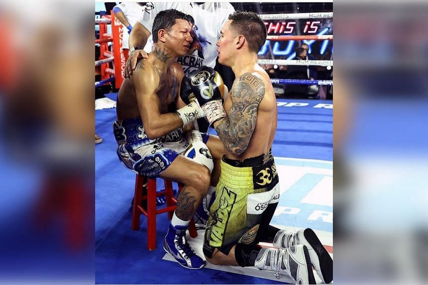 Oscar Valdez (right) brutally overpowered Miguel Berchelt in a battle between the two Mexican warriors that lived up to its pre-fight hype.