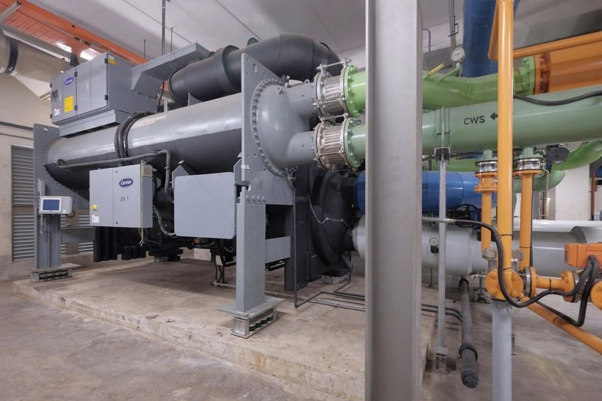 The installation of the three chillers at Home Team Academy cost about $3 million.