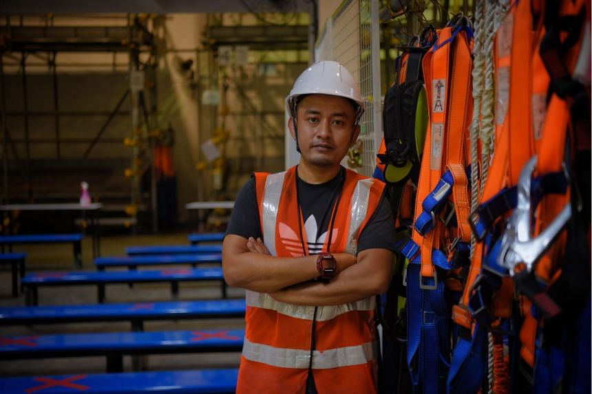 Mr Shariff Rhusli wanted to stay in the construction sector but hoped the course would help expand his career options.