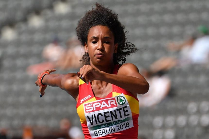 Spanish long jumper Maria Vicente in 2018.