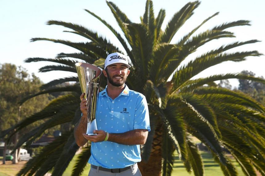 Max Homa (above) defeated Tony Finau in a playoff to win The Genesis Invitational, on Feb 21, 2021.