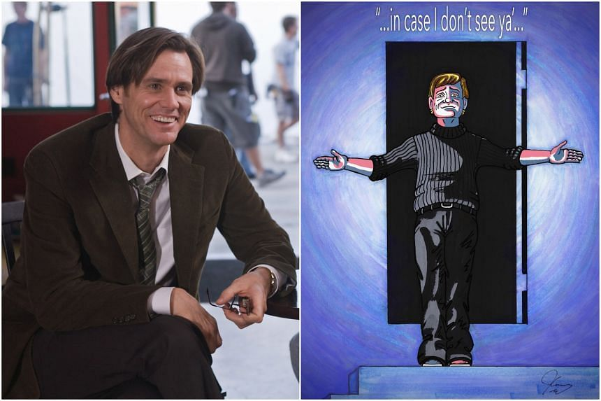 Actor Jim Carrey is also a prolific painter and artist.
