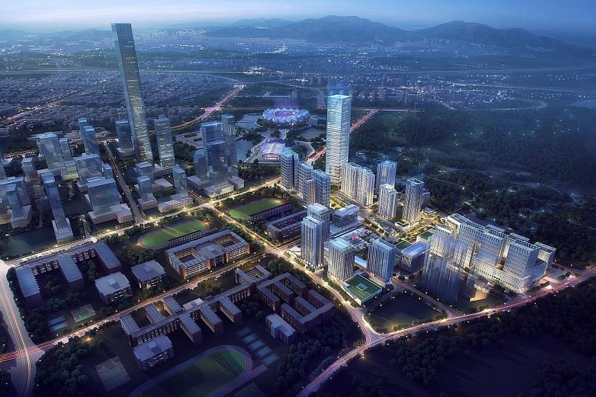 An artist's impression of the Shenzhen Longgang Tusincere Tech Park. Sitting on a site of 192,739 sq m, the tech park is situated north-east of Shenzhen city in Longgang District, which is home to high-tech, new technology and new manufacturing enter