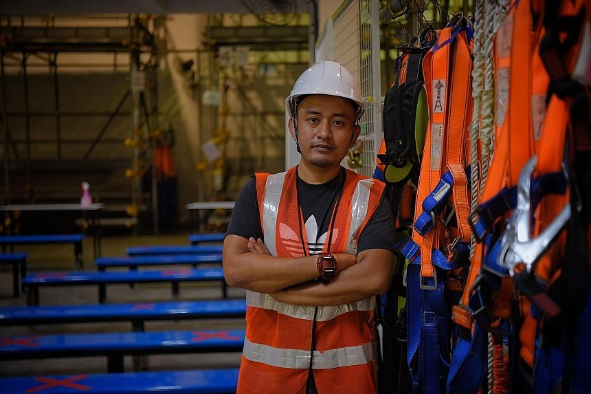 After holding the same job for 10 years, delivery van driver Shariff Rhusli took up a six-month course on workplace health and safety in 2016. He went on to enrol in 27 more related courses with NTUC LearningHub, and landed a job as a project enginee