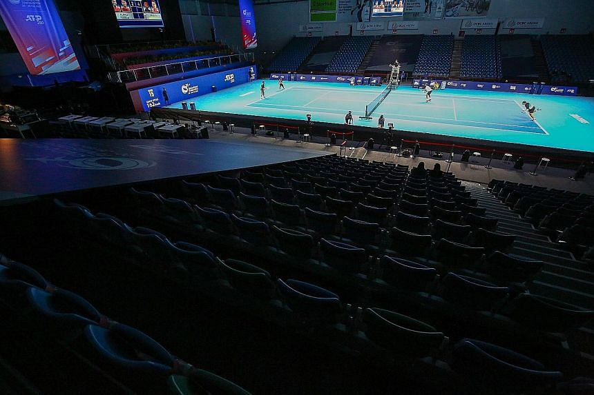 The Singapore Tennis Open started without any spectators allowed. Organisers may allow up to 250 fans for the weekend's semi-finals and final if there are no event-related Covid-19 cases, alongside other factors such as local transmissions.