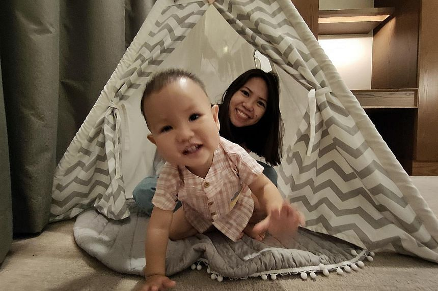 The Family Escape package has a teepee (top) for toddlers. The young ones can also check out the new Kids Club (above), which offers small-group activities; while parents enjoy evening cocktails and soak up panoramic views.