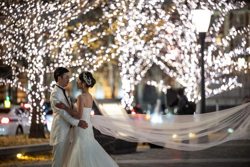 Japan last year saw 537,583 marriages, a 12.7 per cent fall from a year earlier.