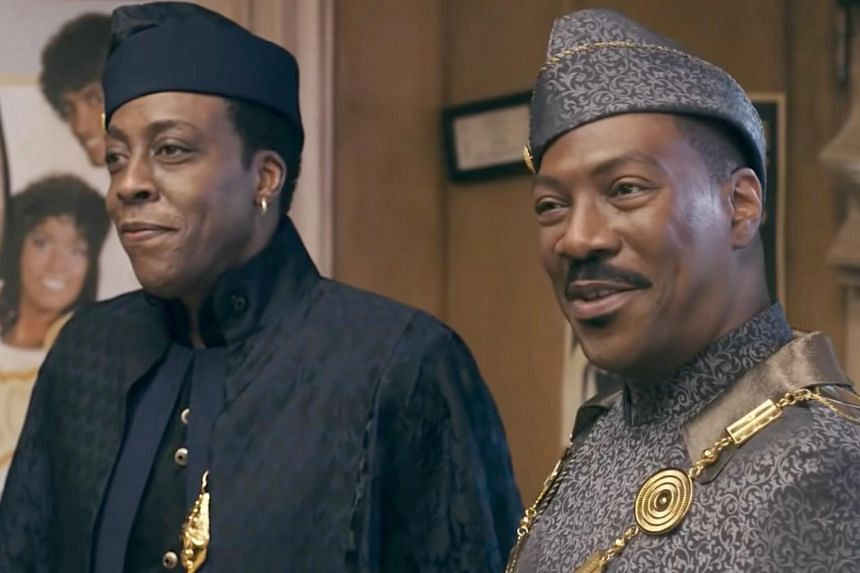Arsenio Hall (left) and Eddie Murphy in Coming 2 America.