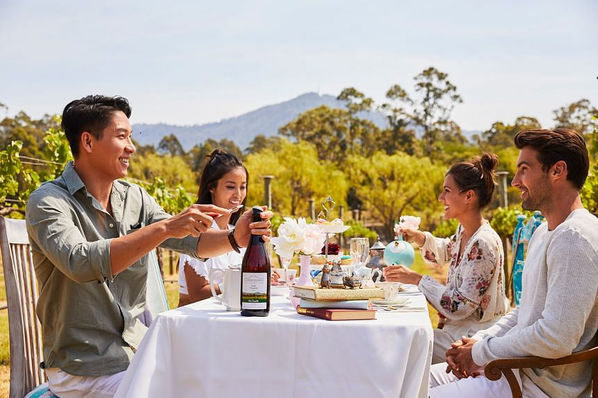The New South Wales wine regions offer a diverse range of food and wine experiences, including the charming High Tea amidst the grape vines at Cambewarra Estate Winery, in the Shoalhaven Coast.