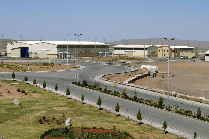 The Natanz uranium enrichment plant, located 250km south of Teheran.