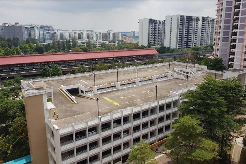 The urban farm site on the rooftop of the housing board multi-storey carpark at Block 517B Jurong West Street 52.
