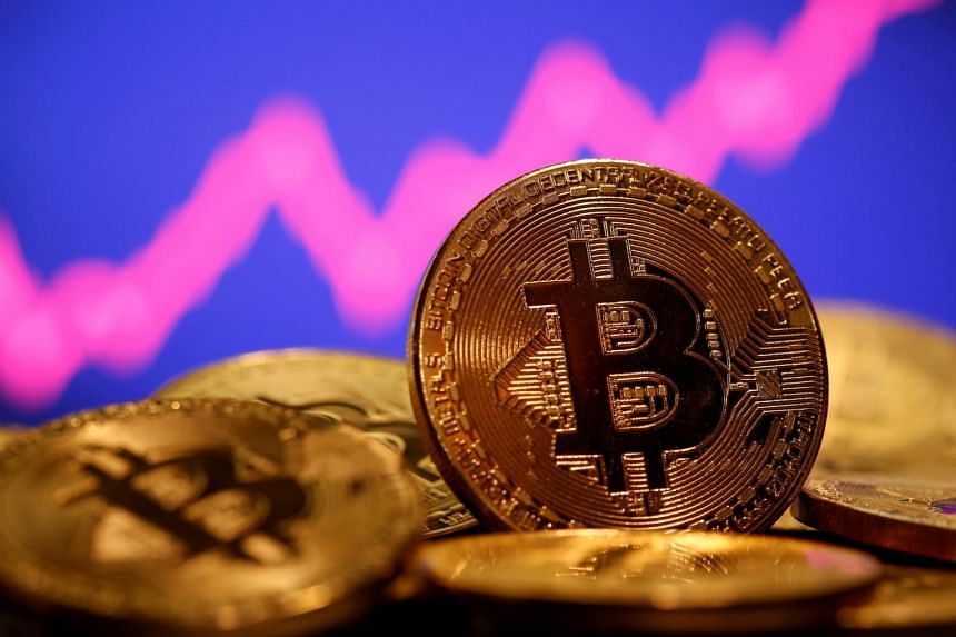Bitcoin was down about 5.6 per cent after plunging as much as 17 per cent earlier on Feb 22.
