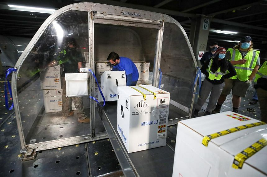 Pfizer has shipped around 40 million doses to locations across the United States so far.