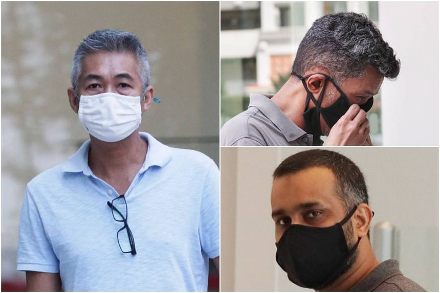 Richard Goh Chee Keong, Juandi Pungot and Muzaffar Ali Khan Muhamad Akram appeared before a district court on Feb 23.