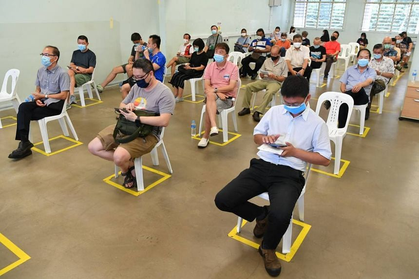 About 300 drivers got their first jabs at the vaccination centre in the former Hong Kah Secondary School on Feb 23.