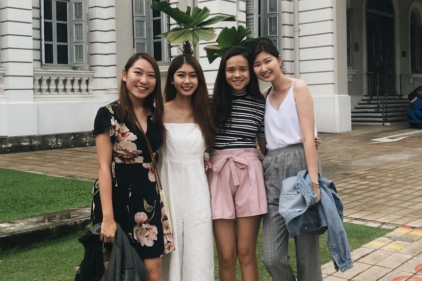 The four final-year Communication students from NTU, (from left) Charissa Yang, Cheryl Chua, Ong Shi Ting and Macabelle Chan.