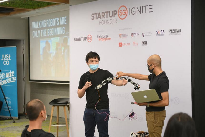 Mr Jeremy Koh from Whyte Labs pitching his business idea at Founder IGNITE on Feb 23, 2021.