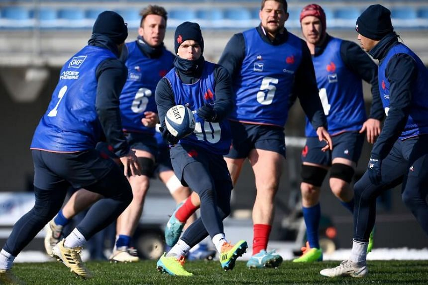 France players during training in Marcoussis, south of Paris, on Feb 11, 2021.