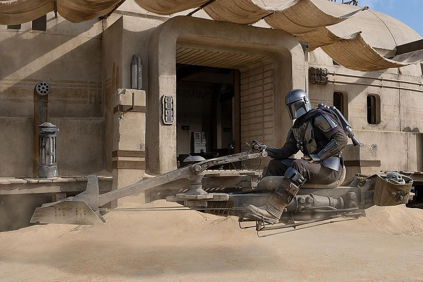 The Mandalorian stars Pedro Pascal as the title character, a bounty hunter.
