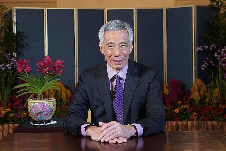 """Prime Minister Lee Hsien Loong, in a pre-recorded video message to a global conference broadcast live on YouTube today, said that """"a pandemic knows no borders"""", and """"no country is truly safe, until all of us are safe"""". PHOTO: MINISTRY OF COMMUNICATIO"""