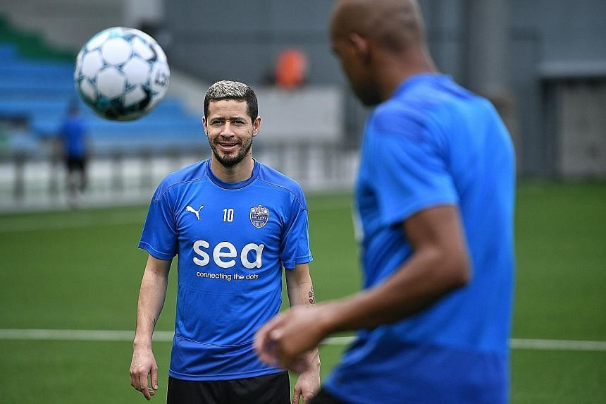Lion City Sailors midfielder Diego Lopes has settled well here and the Brazilian is ready to make an impact in his first Singapore Premier League season.