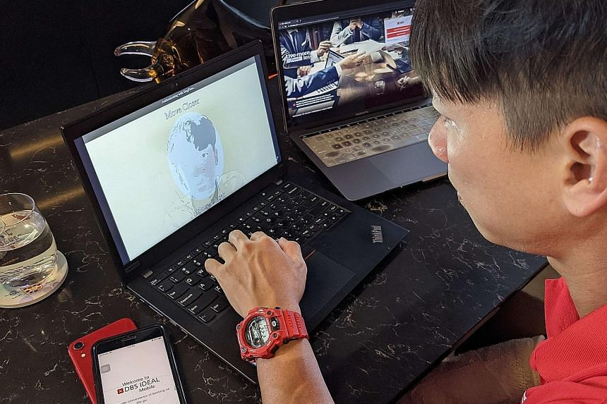 Under DBS' move for small and medium-sized enterprise owners, SingPass Face Verification allows a captured facial image to be matched against the national biometric database to verify their identity. PHOTO: DBS