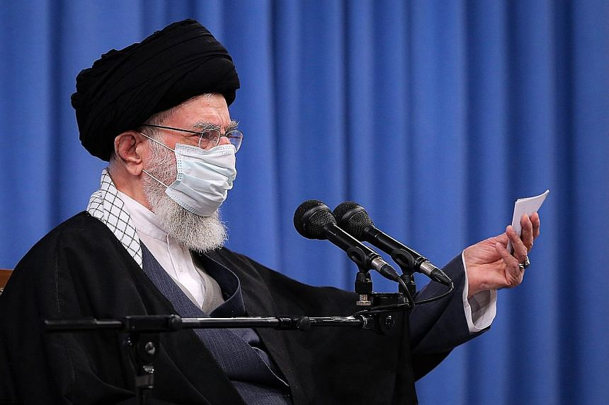 Iran's Supreme Leader Ayatollah Ali Khamenei said the country would never yield to United States pressure over its nuclear programme.