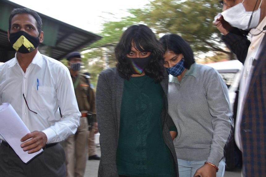 Last week, Disha Ravi (centre), a 22-year-old climate activist, was arrested under India's colonial-era sedition law.