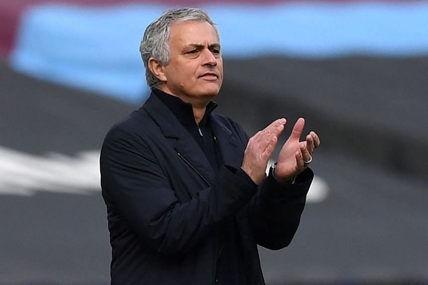 Spurs have lost five of their past six Premier League games, an unprecedented run for Mourinho (above).