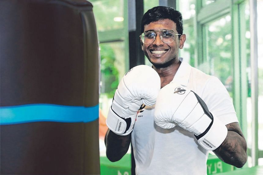Mr Viknesh Vennu, 30, started the gym Sculpt Fitness Society to help people lose weight.