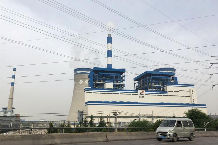 A coal-fired power plant of Xuzhou Coal Mining Group in Xuzhou, Jiangsu province, China.